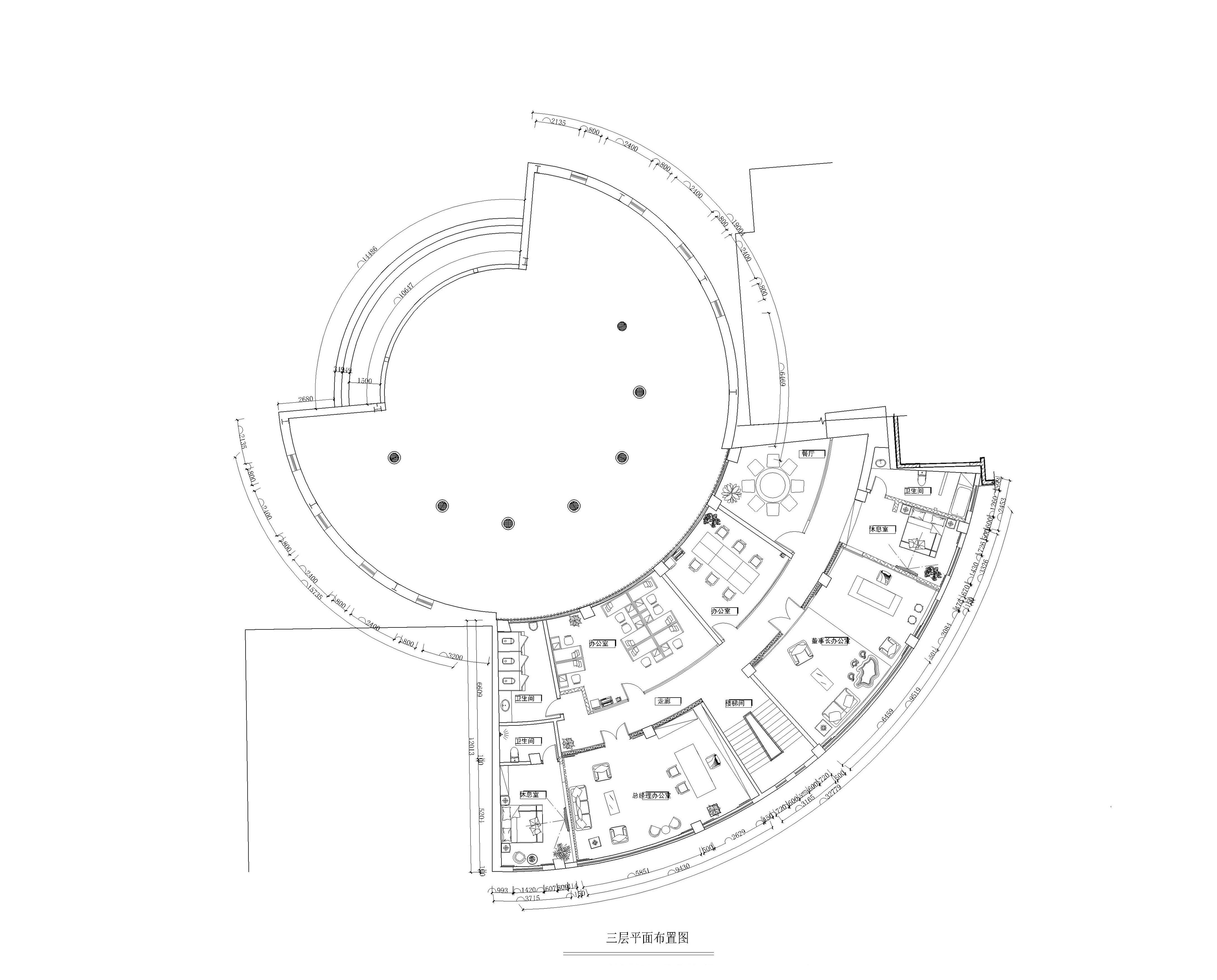 甲方开发项目为欧式建筑形式的住宅小区,售楼位置位于十字路口一角的